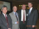 Jim Cheng (Va. Sec. of Trade and Commerce), Stuart Malawer (GMU / Public Policy and VEDP Board), Amb. Mike Moore (former WTO Director-General), Todd Haymore (Va. Sec. of Agriculture)