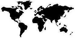 Globe Map (Black)